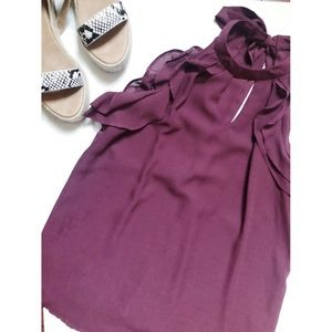 ❤️ 3 items for $20❤️ Maroon Blouse with Ruffles